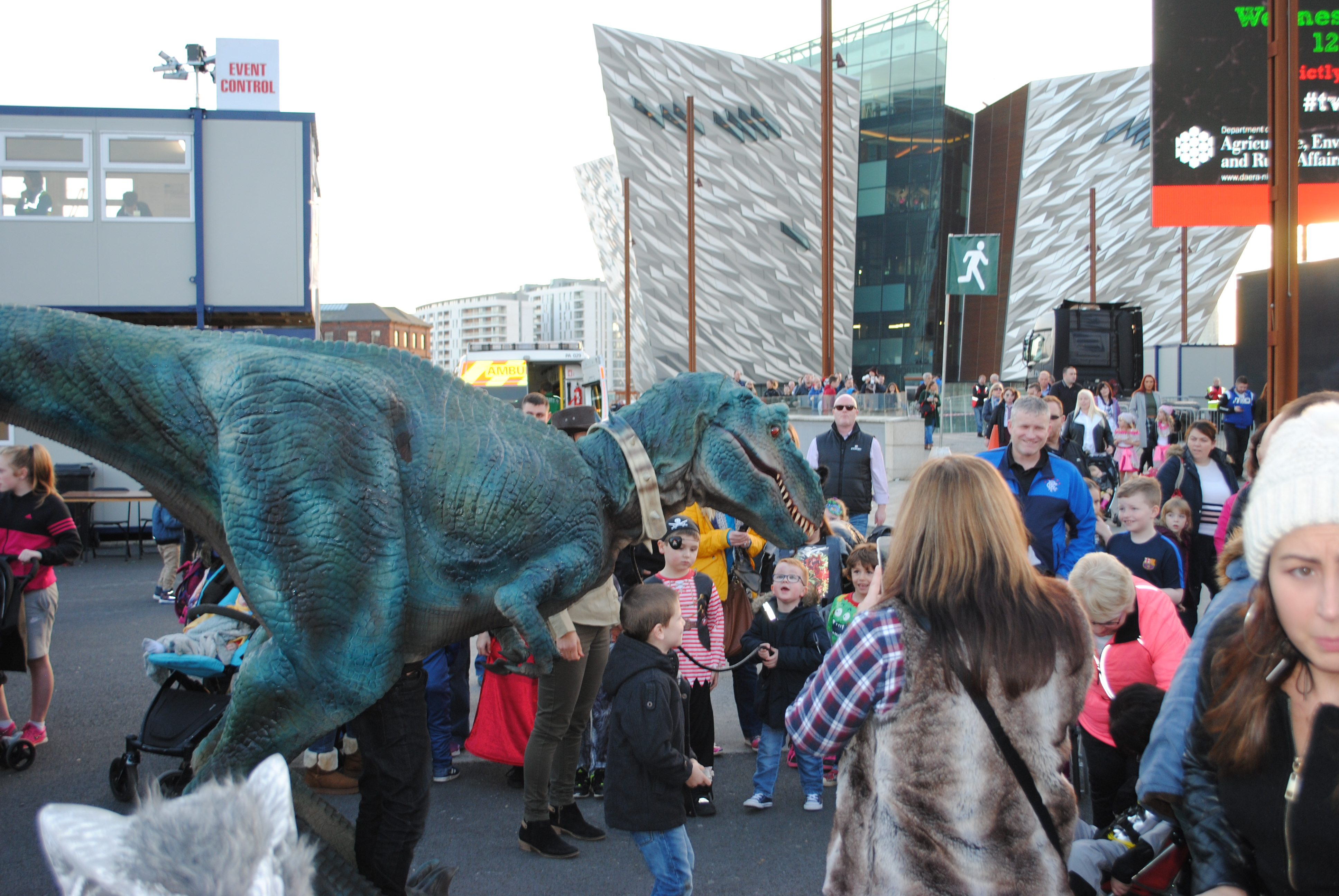 belfast halloween monster mash - dinosaur hire northern ireland
